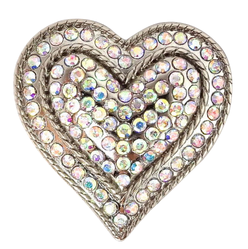Jeweled Heart Fitness Button